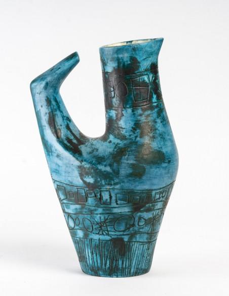 1430-Jacques Blin ( 1920- 1995) - vase oiseau