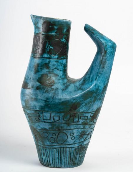 1431-Jacques Blin ( 1920- 1995) - vase oiseau