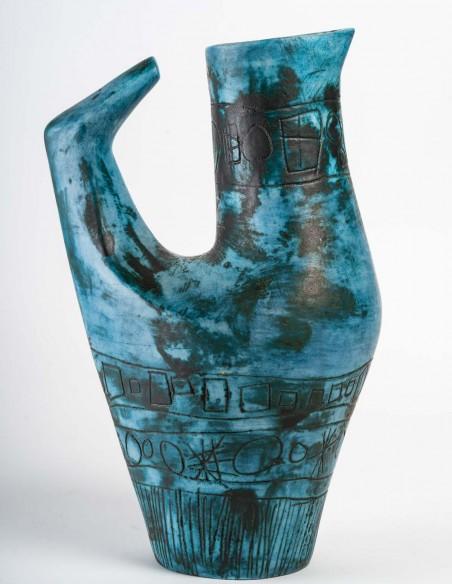 1433-Jacques Blin ( 1920- 1995) - vase oiseau