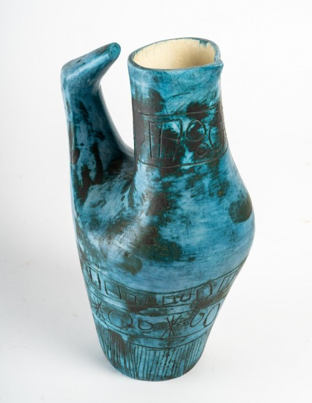1434-Jacques Blin ( 1920- 1995) - vase oiseau