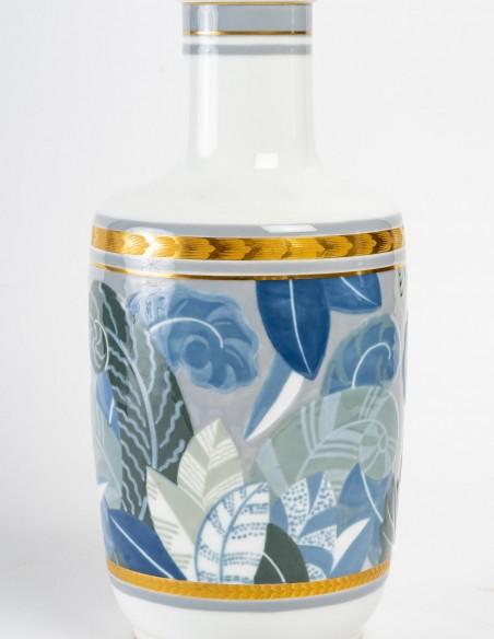 1438-Vase en porcelaine de Sèvres, art déco