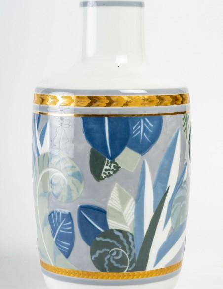 1441-Vase en porcelaine de Sèvres, art déco