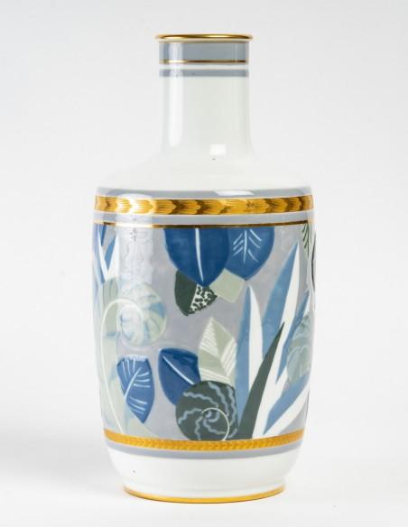 1442-Vase en porcelaine de Sèvres, art déco