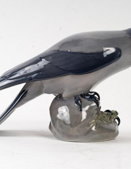 1466-Corbeau et grenouille par royal Copenhague
