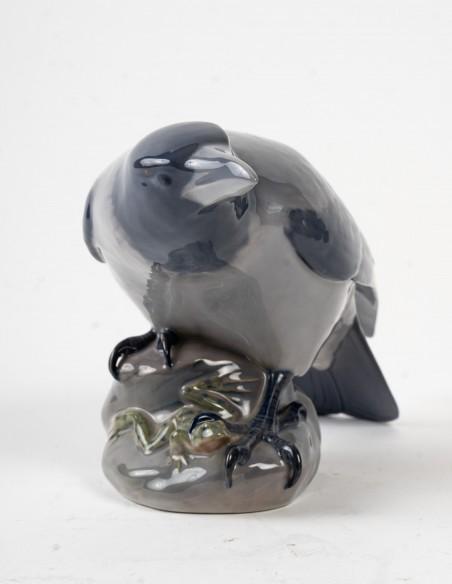 1467-Corbeau et grenouille par royal Copenhague