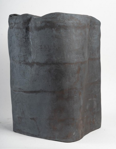 "1647-Sculpture en céramique ""gingko"" par Marc Albert"