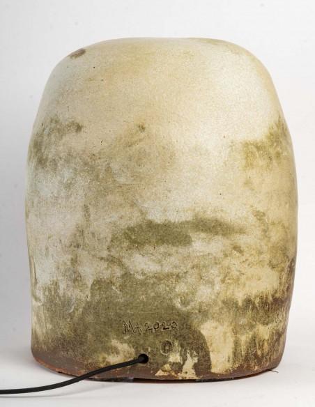 1651-Sculpture ceramic stool by Marc Albert