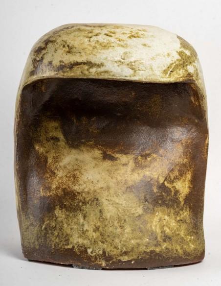 1653-Sculpture ceramic stool by Marc Albert