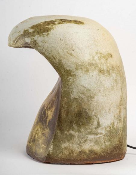 1656-Sculpture ceramic stool by Marc Albert
