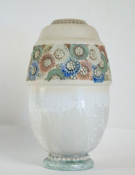 567-Les frères Mougin - vase en céramique art nouveau