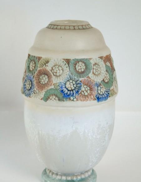 568-Les frères Mougin - vase en céramique art nouveau