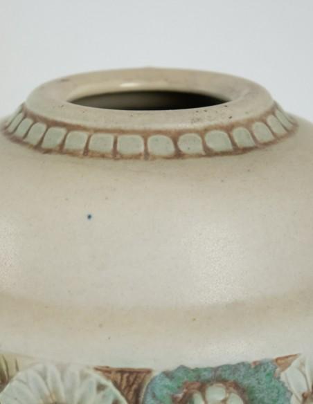 569-Les frères Mougin - vase en céramique art nouveau