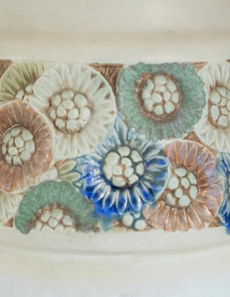 570-Les frères Mougin - vase en céramique art nouveau